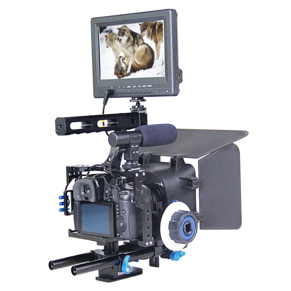 Camera Panasonic Dslr Video Camera popular lumix dslr camera buy cheap lots from professional handle rig stabilizer video cagefollow focusmatte box kit for