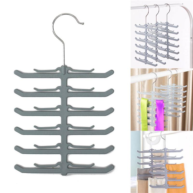Best Promotion Rack Closet Organizer Necktie Belt Neck Tie Scarve Non-slip Holder Hanger Hook Bathroom Accessories(China (Mainland))