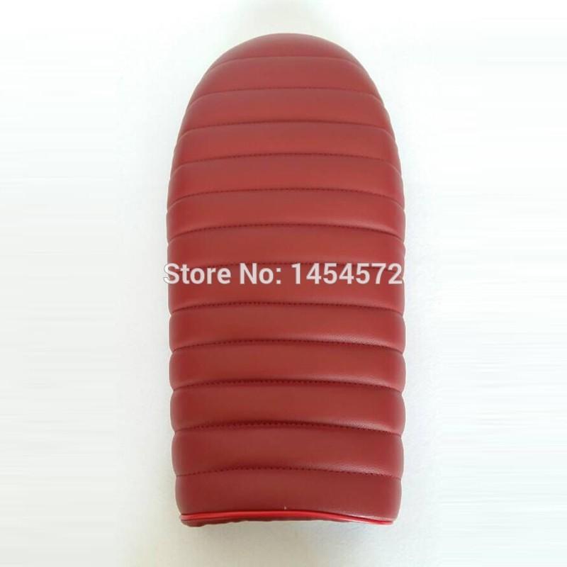 Universale nuovo vino rosso presa di fabbrica cafe racer sella di Moto cuscino cg125 cb 250 350 550 650 nero sella gn125 Gn250