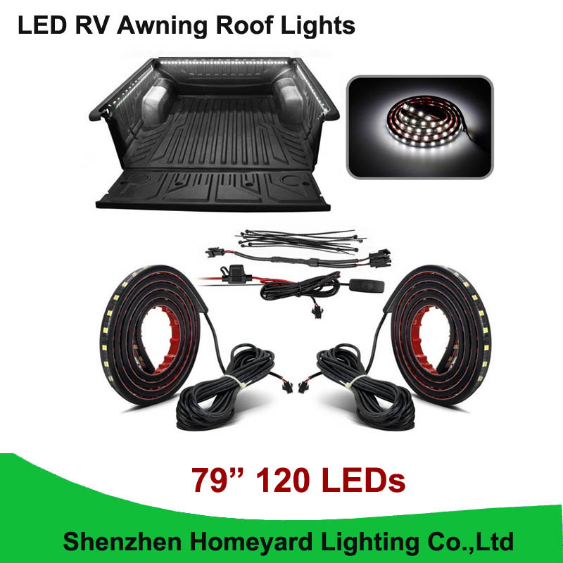 """1set/pcs 79"""" White LED RV Awning Roof Lights Custom Made 120-5050-SMD Truck Bed Light for pickup(China (Mainland))"""