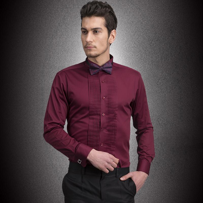 Turmec Men 39 S Long Sleeve Red Dress Shirt