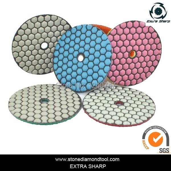 100mm Granite Colorful 7 Grits Resin Dry Polishing Pads(China (Mainland))