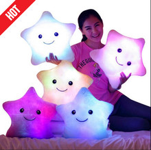 Promotion 38cm*35cm Star Led Light Pillow Cute Star Luminous Pillow with Colorful Light Birthday/Valentine's Day Gift Hot Sale(China (Mainland))