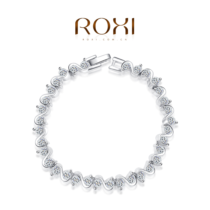 ROXI Christmas gift genuine Austrian crystals luxury classic bracelet platinum plated 100%hand made jewelry 2060004745