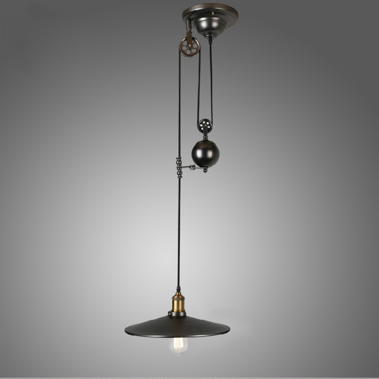 Retro loft vintage industrial pulley pendant lamp home lighting fixture for dinning room kitchen AC 110V/220V Edison bulbs<br><br>Aliexpress