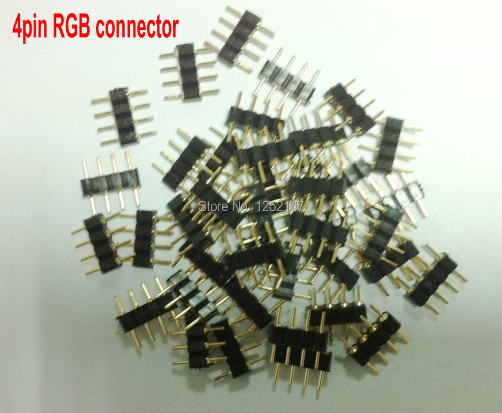Разъем 20pcs/lot 4/, 4pin, RGB LED 3528 5050 BSD разъем jy led 20pcs lot x 10 4pin 4 rgb 5050 pcb fpc rgb x connector