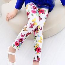 Girls Leggings Children Pants Clothing Printed Flower Butterfly Girls Pants