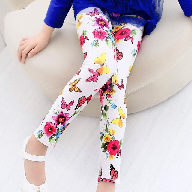 Girls Leggings Children Pants Clothing Printed Flower Butterfly Girls Pants