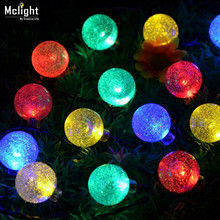 60 LED Solar Powered Ball Led String Lighting LED Fairy Light for Wedding Christmas Party Festival Outdoor Indoor Decoration(China (Mainland))