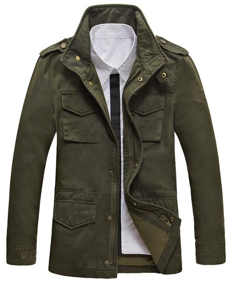 NEW TOP 100% Cotton Men Casual Jacket Autumn Winter Coats ...