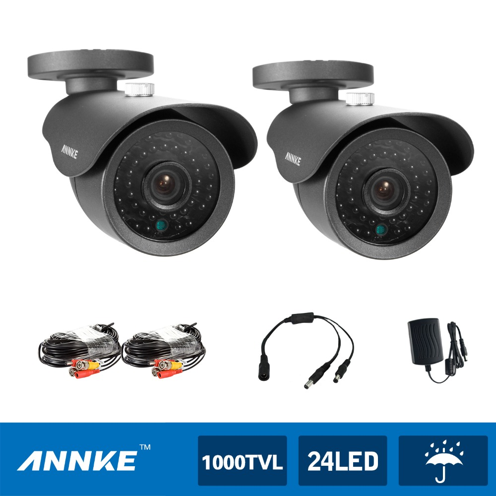 ANNKE 2 PCS 900tvl 42pcs LED,Up To 110 FT Night Vision High Resolution CCTV Security Cameras(China (Mainland))