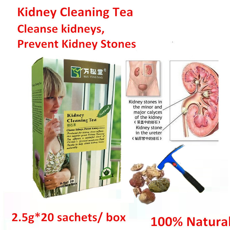 1pac 20 sachets Kidney Cleaning Tea Cleanse kidneys Prevent Kidney Stones energize natural vitality