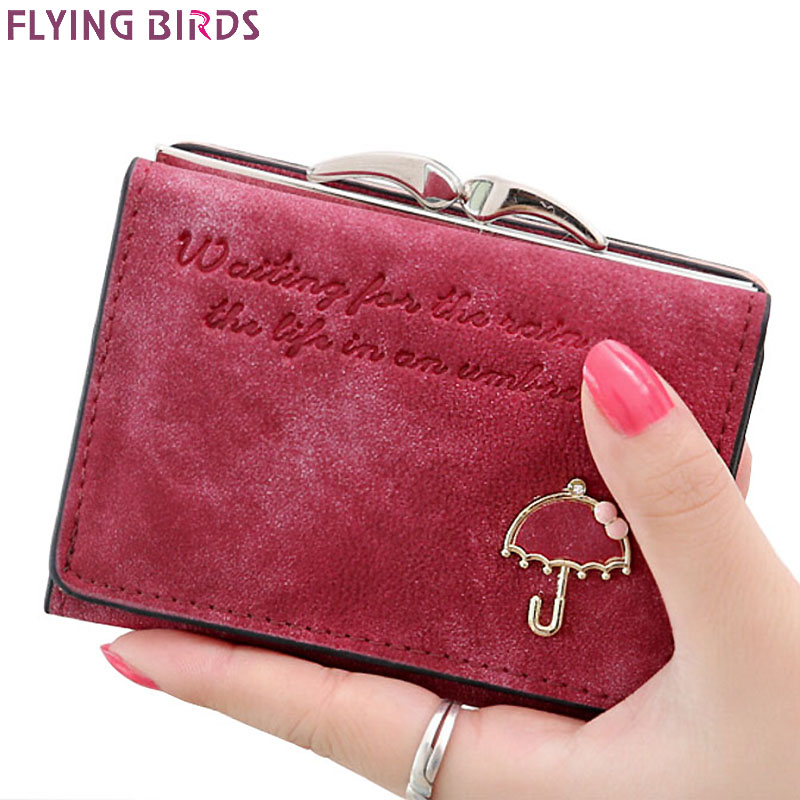 Flying birds! Women Wallets short dollar price Leather Wallet Clutch leather purse women bags high quality credit card LM3217fb(China (Mainland))