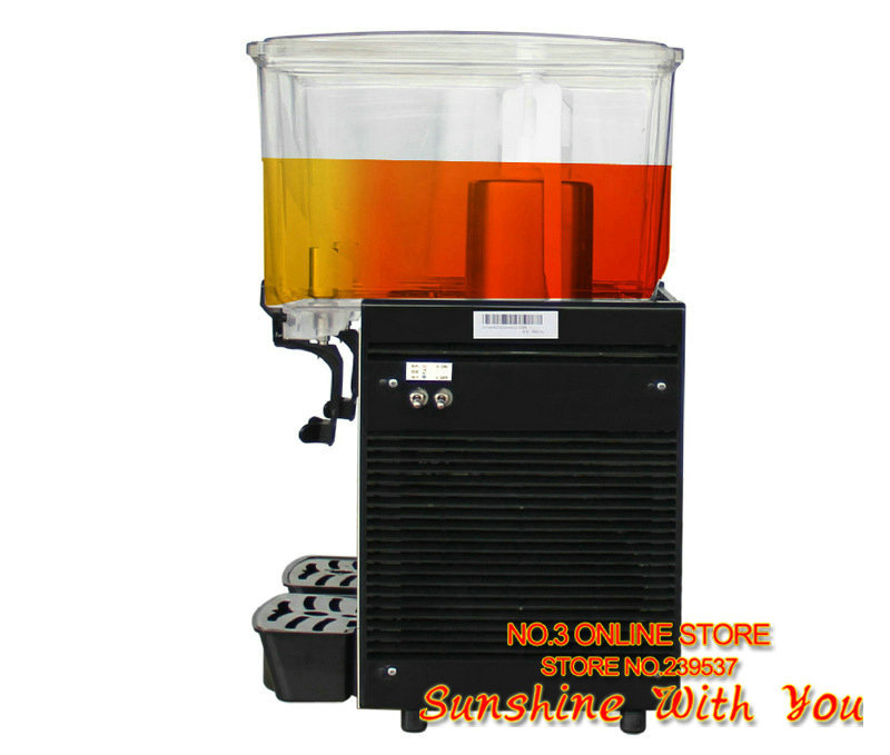high quality 220V electric Stainless Steel double tank 15L stir type hot cold juice drink dispenser hotel bar drink machine X1(China (Mainland))