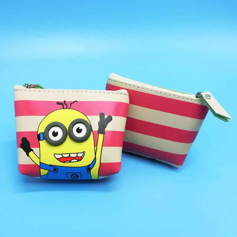 1pcs 11CM kids Cute cartoon coin purse toy mini yellow plush soft toys children mini wallet plush toys gift for kid(China (Mainland))