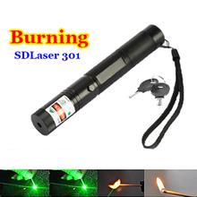 High Power Green Laser Pointer Flashlight SDLaser 301 200mw 532nm Powerful Burning Lazer Pointer PPT Presentation Pen Beam Light