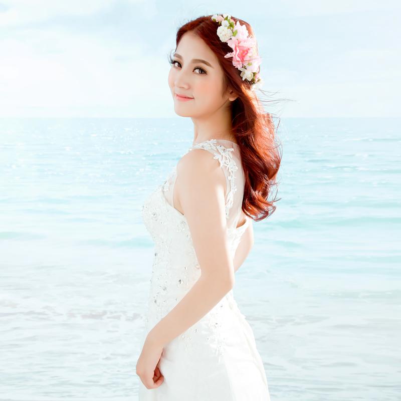 Jiaqi . bride cloth hair accessory hair accessory halo hair accessory marriage accessories(China (Mainland))