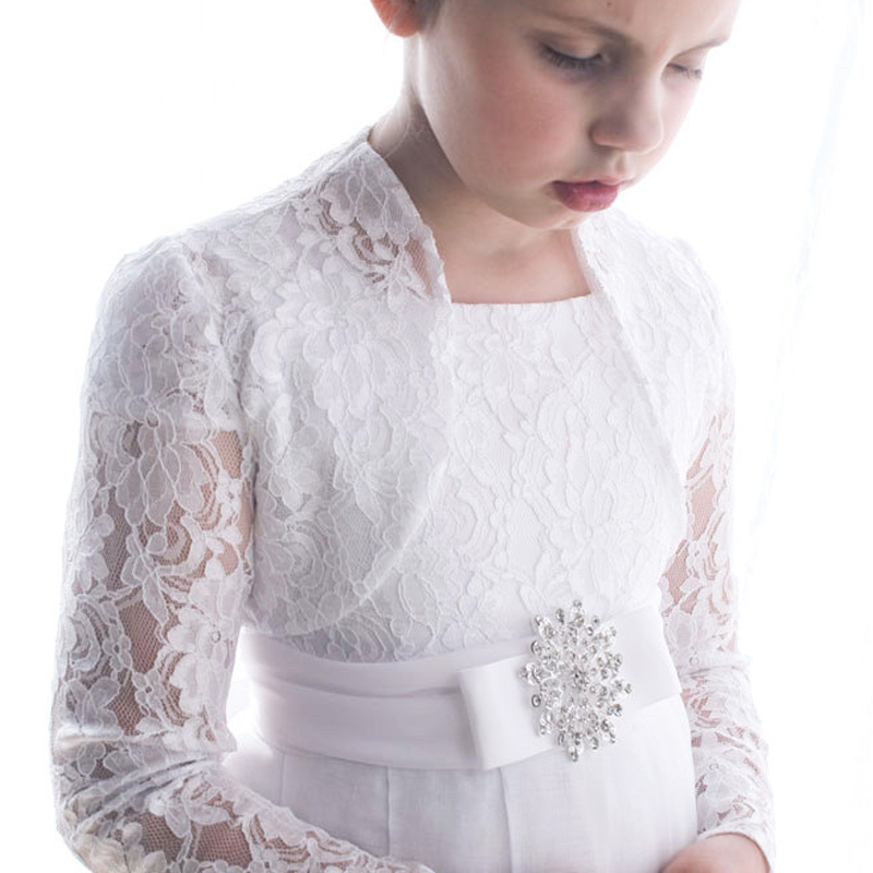 Custom made 2016 lace bolero jacket for flower girl dress for Dress jackets for wedding
