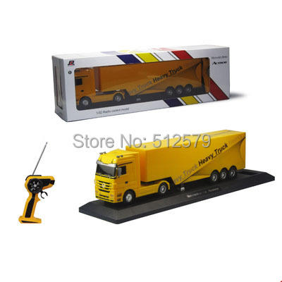 Фотография Kingtoy Detachable Electric Remote Control Big Size 1:32 RC 6CH container heavy truck with lights and sounds 4 Colors Car