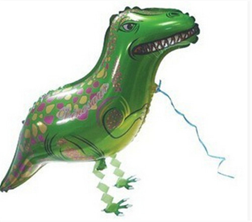 green dinosaur Assortment Design Walking Pet Balloon Hybrid Models of Animal Balloons Children Party Toys Boy Girl Gift(China (Mainland))