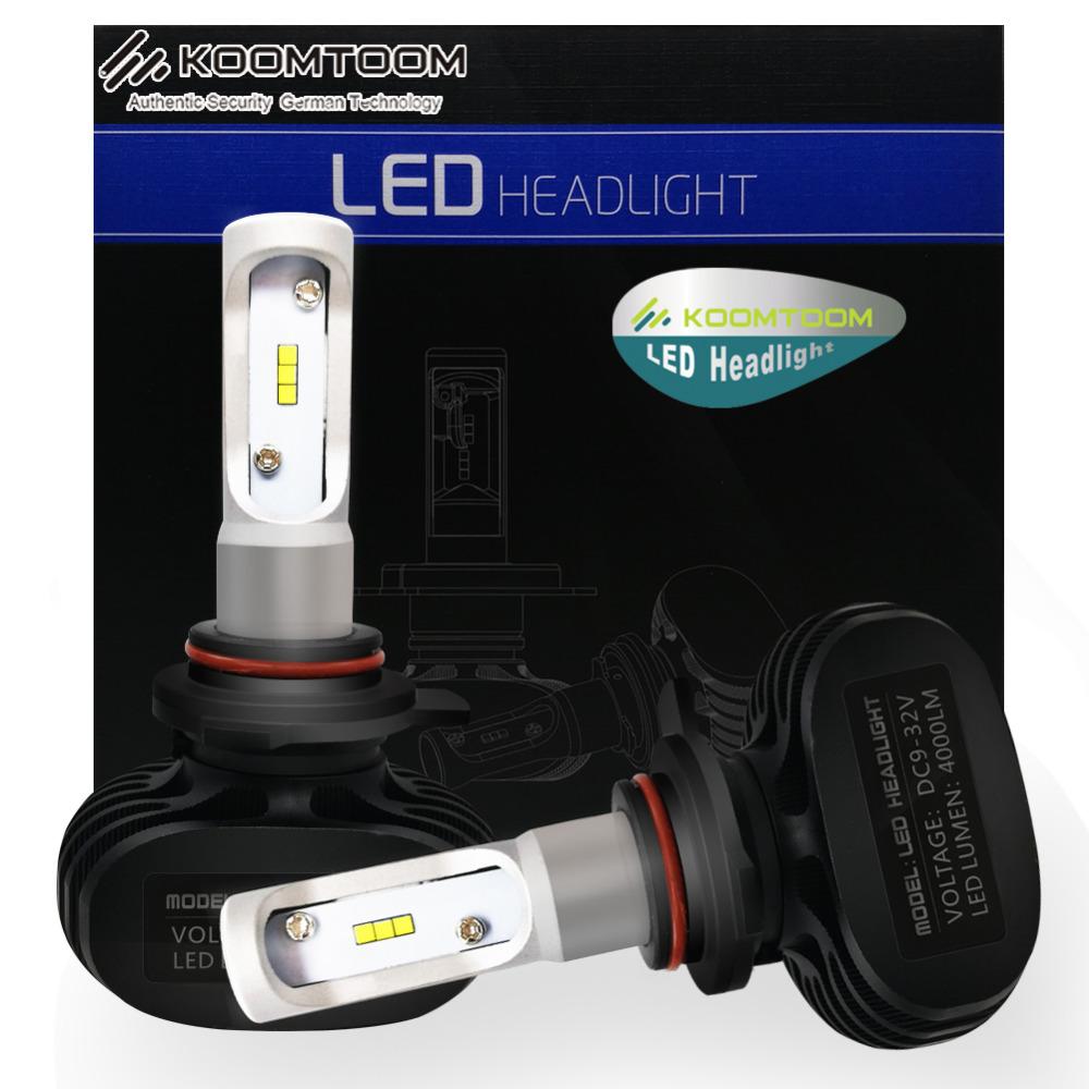 1 Pair Car Lights LED Headlights Bulb H7 Kit H1 H3 H4 H8 9006 9004 9007 9012 H16JP H16EU PSX24W 880 881 LED H7 Headlight(China (Mainland))