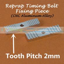 Reprap DIY Timing Belt Fixing Piece Aluminum Alloy Tooth pitch 2mm Clamp Fixed Clip 9*40mm CNC For 3 D Printer parts