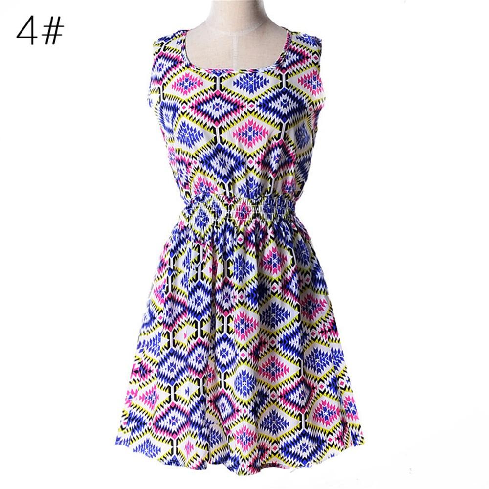 Fashion Tunic Women Dress 2016 Plus Size XXL O-neck WOMEN DRESS Summer Style Floral Print Casual Dresses Women Vestidos Woman (30)