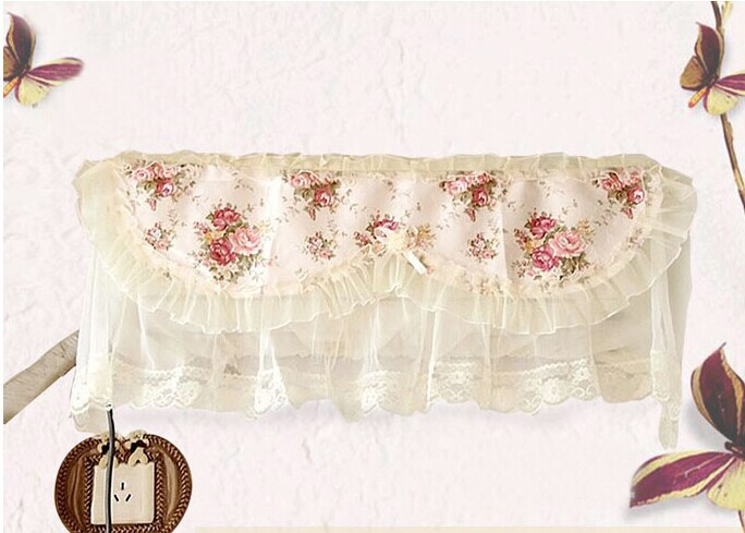 hanging air condition case air conditioning cover dust proof lace flower cover Textile garden dustproof case home decoraiton(China (Mainland))