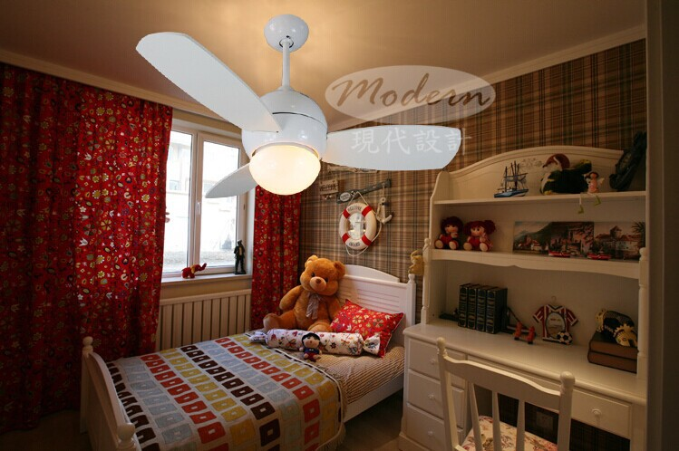 Buy 34inch small ceiling fan light with - Bedroom ceiling fans with remote control ...