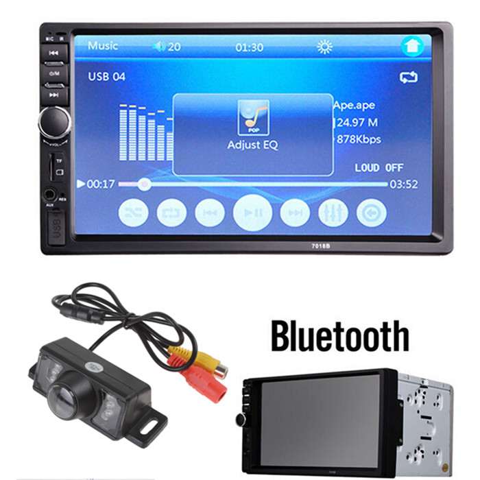 Car video player 7 Inch LCD HD Double DIN Car In-Dash Touch Screen Bluetooth Car Stereo FM MP3 MP5 Radio Player +1/4 CMOS Camera(China (Mainland))