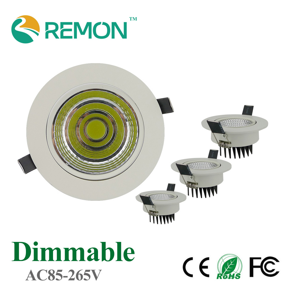 Energy Saving COB Downlight Dimmable 5w 10w 20w LED Recessed Ceiling Bulb Super Bright Spot Light Fixture Flood lighting Lamp(China (Mainland))