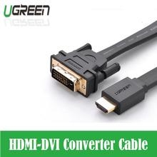 De alta calidad HDMI a DVI DVI-D 24 + 1 pin adaptador cables 3D1080p para LCD HDTV DVD PS3 XBOX envío libre hdmi de Alta velocidad cable