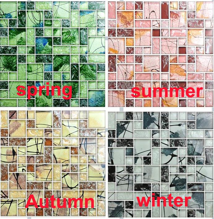 Gekleurde spiegel tegels promotie winkel voor promoties gekleurde spiegel tegels op - Rode metro tegel ...