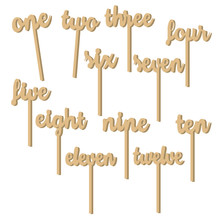 12pcs/set Handmade Wooden Wedding Party Supplies Place Holder Table Number Figure Card Digital Seat Decorative Accessories(China (Mainland))