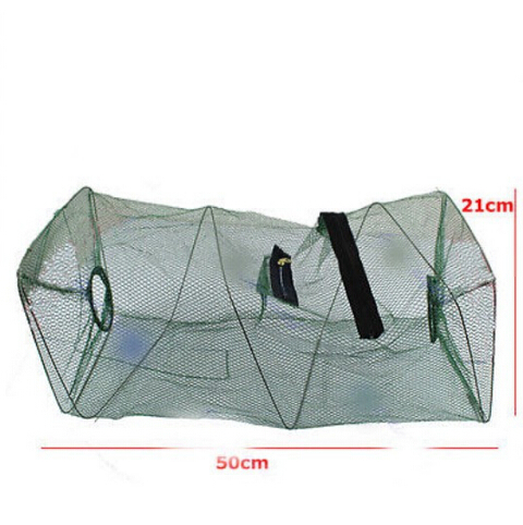 Hot Sale Foldable Crab Fish Crawdad Shrimp Minnow Fishing Bait Trap Cast Dip Net Cage Free Shipping(China (Mainland))