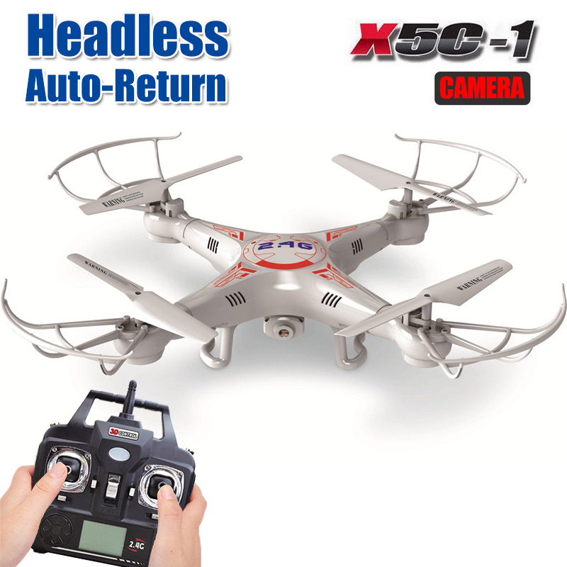 X5C-1 RC Drone with Headless Auto-return Professional Remote Control X5C Quadcopter 2.4G Drones can add 720P HD Camera