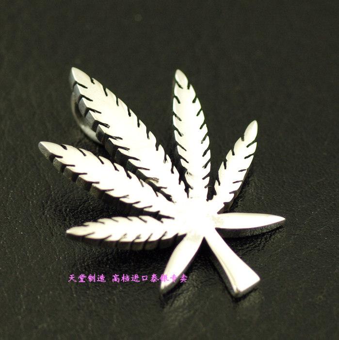 Thailand imports 925 Sterling Silver Vintage Reggae wind leaf, Silver Pendant(China (Mainland))