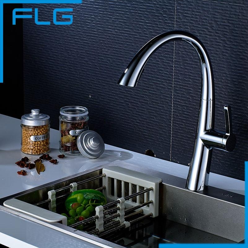 Free Shipping ,Brass Quality Guarantee! Kitchen Sink Tap, Kitchen Mixer, Pull Down Kitchen Faucets, torneiras para pia cozinha(China (Mainland))