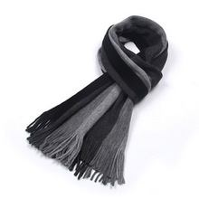 2016 fashion designer Men Classic Cashmere Scarf Winter Warm Soft Fringe Striped Tassel Shawl Wrap striped scarf men scarves(China (Mainland))