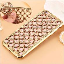 Rhinestone Back Cover Luxury 3D Hollow Diamond Grid Capa Soft TPU Case Samsung Galaxy J3 J5 J7 2016 A3 A5 A7 S4 S5 S6 S7 - Shenzhen BY Girl Trading company Co.,Ltd store