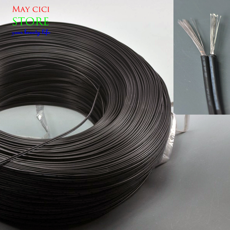 Black TWO 2Pin LED Extension Tinned Copper Wire Cable Wire Cord Free Cutting 20AWG for led strips single color(China (Mainland))