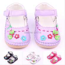 Handmade PU Leather Girls Kids Children Prewalker Mary Janes Shoes Princess Infant Oxford Bottom Non-slip Outdoor Shoes Sandal(China (Mainland))