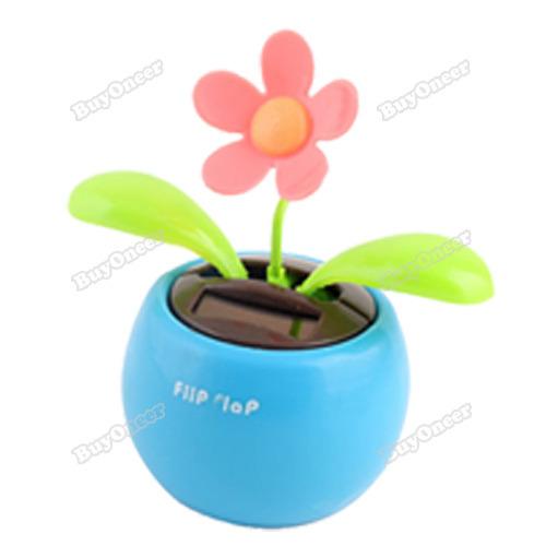 buyoneer lovely Solar Powered Flip Flap Flower Cool Car Dancing Toys Most popular(China (Mainland))