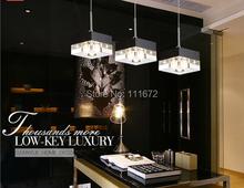 new 3 lights dinning table LED pendant light , modern crystal home lighting (China (Mainland))