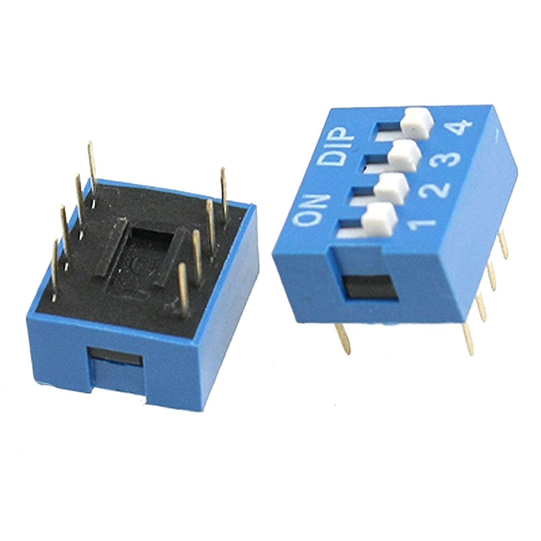 Гаджет  2015 Best Sale 10 Pcs 2 offer 8 Pin 4P Positions 2.54mm Pitch DIP Switch Blue None Электротехническое оборудование и материалы