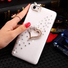 SMILE CASE 4 style Fashion Golden Love Rhinestone Clear hard plastic Case for Lenovo S90 A536 A358T S850 Case mobile phone Cases