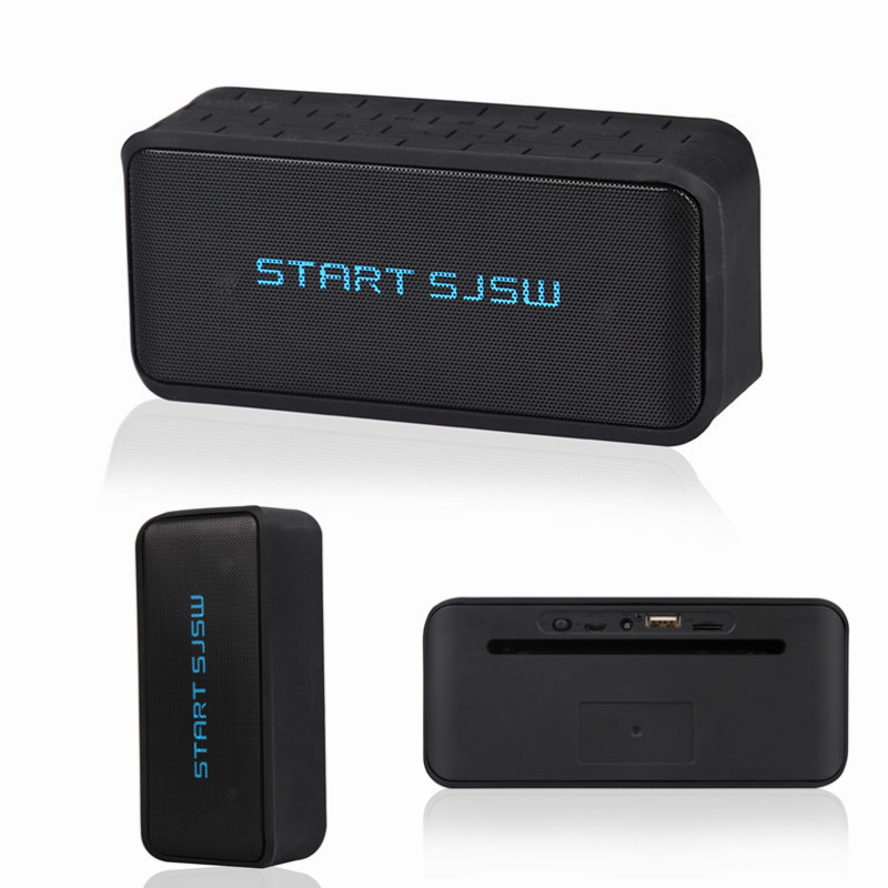 Brand START SJSW BT Portable Bluetooth Speaker Stereo Wireless Speakers Good Bass Dual Driver Full-range Sound HIFI FM 1800mah(China (Mainland))