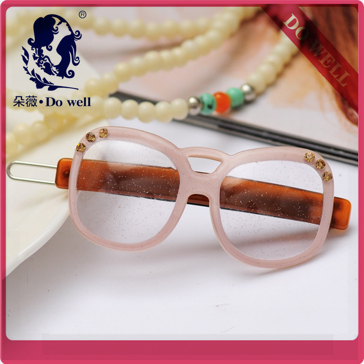 6PCS Elegant Women Vintage cute hairpins glasses Hairpins Hair Clip Barrette headwear Accessories(China (Mainland))