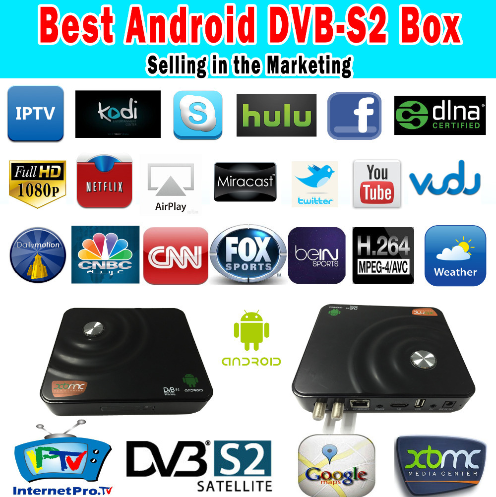 ST Android DVB-S2 Amlogic8726-MX Dual Core Android 4.2.2 TV Box Satellite Receiver IKS CCCam Newcam H-Share XBMC Supporte DVB S2(China (Mainland))