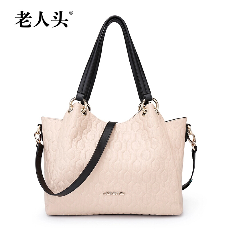 2015 amous Brand Women Bag High Quality Laorentou Genuine Leather Fashion Women Handbags Geometric Zipper Women Messenger Bags<br><br>Aliexpress